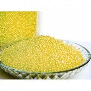 Жемчуг (бисер) для ванн жёлтый Весеннее танго 100 гр