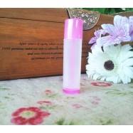 Помадница полупрозрачная с розовыми элементами