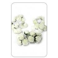 Цветок декоративный, роза кремовая 12 шт