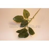 Стебель с шестью текстильными листьями