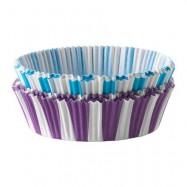 Бумажная капсула, бело-синяя или бело-фиолетовая плоская 10 шт