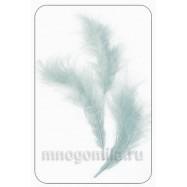 Перья натуральные серебро (серый) 11 см +/- 3 см 1 шт