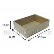 Коробка МГК с пластиковой крышкой крафт, средняя