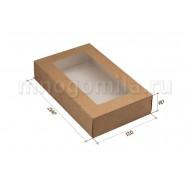 Крафт-коробка с окошком большая