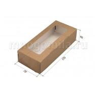 Крафт-коробка с окошком средняя