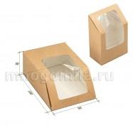 Крафт-коробка с окошком высокая