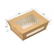 Крафт-коробка с двойным окошком