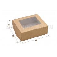 Крафт-коробка с окошком малая