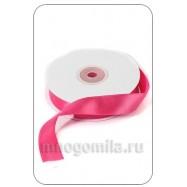 Лента атласная ярко-розовая 1 метр