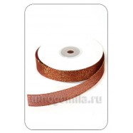Лента парчовая коричневая 1 метр