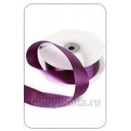 Лента атласная фиолетовая 1 метр