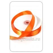 Лента атласная оранжевая 1 метр