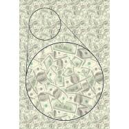 Цветная самоклеящаяся бумага Деньги