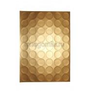 Самоклеящаяся бумага 54 деления круг золотой 1 лист