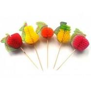 Декор-пика фрукты в ассортименте 5 шт
