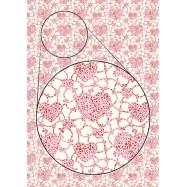 Цветная самоклеящаяся бумага  Сердечки